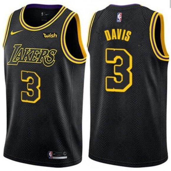 Nike Shirts | Mens Anthony Davis 3 Lakers Black Mamba Jersey ...